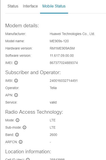 Mobile interface configuration details — Netrounds Documentation